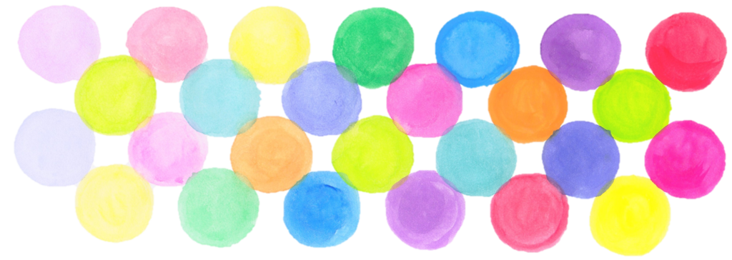色彩学校提携クラス色の丸